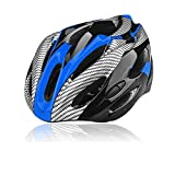 Ultralight Adult Men's Off Road Mountain Bike Bicycle Cycling Helmet EPS + PC Material MTB Helmet 21 Air Vents (Blue)