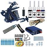 Wanna Tattoo Kit for Beginners Tattoo Power Supply Kit 4pcsTattoo Ink 5 Tattoo Needles 1 Pro Tattoo Machine Guns Kit Tattoo Supplies