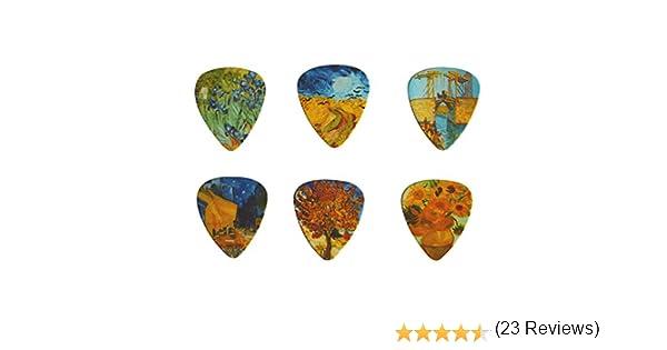 Púas de guitarra de celuloide con diseños de Vincent Van Gogh ...