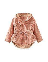 SPRMAG Little Girls Fashion Geometric Print Dress Coat Hooded Jacket