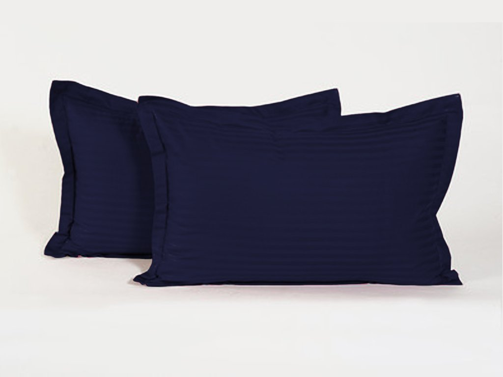 600 Thread-Count Best Quality Egyptian Cotton Euro Sham Size House Wife Pillow Cases,Navy Blue Stripe 600 TC 100% Pure Cotton by LaxLinen