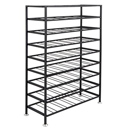 (ZENY Portable Metal 54 Bottles Freestanding Wine Rack Stand Rack Cellar Storage Organizer Display Stand, Black)