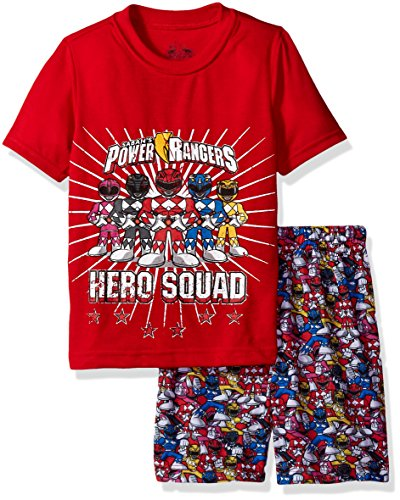 Power Ranger Little Boys' Hero Pajama Short Set, Red, 6/7 (Rangers Short Power)