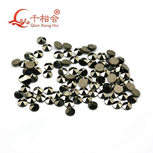 (Pukido 200pcs for on Bag Round Shape 1mm to 2mm Natural Marcasite Loose Stone for jewlery Making DIY qianxiang hui - (Item Diameter: 1.2mm(200pcs) pp5))