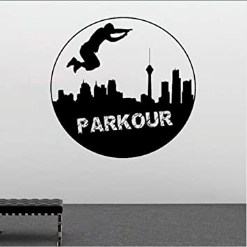 Cchpfcc Extrme Sports Vinilo Tatuajes De Pared Parkour Etiqueta De La Pared Nuevo Diseño Street Plotter Deporte Ventana De La Pared Poster Parkour Amante Regalo 57 * 57 Cm: Amazon.es: Bricolaje y herramientas