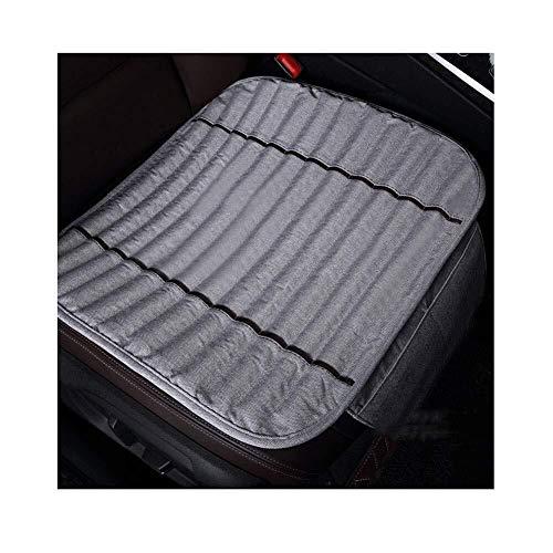 Los cojines del asiento de coche de verano de carbon de bambu cojin fresco del purificador de aire facil de quitar y lavar monolitico, por Auto Material for oficina Silla de 7 colores (color: Negro)