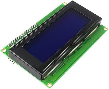 Leyal LCD Module Display Monitor LCD2004 2004 204 20X4 5V Character Blue Backlight Screen and IIC I2C for arduino DIY KIT