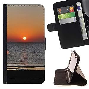 For Motorola Moto E ( 1st Generation ) Case , Egeo puesta de sol- la tarjeta de Crédito Slots PU Funda de cuero Monedero caso cubierta de piel