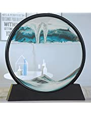 Dynamic Moving Sand 360° rotatable Sand Painting|Round Glass 3D Natural Landscape|Creative Quicksand Painting Home Decoration (Color : C)