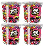Now & Later Original Taffy Chews Candy, Assorted, 150 Count Chews, 90 Ounce Jar (Pack of 4)