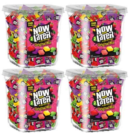 Now & Later Original Taffy Chews Candy, Assorted, 150 Count Chews, 90 Ounce Jar (Pack of 4) by Now and Later (Image #2)
