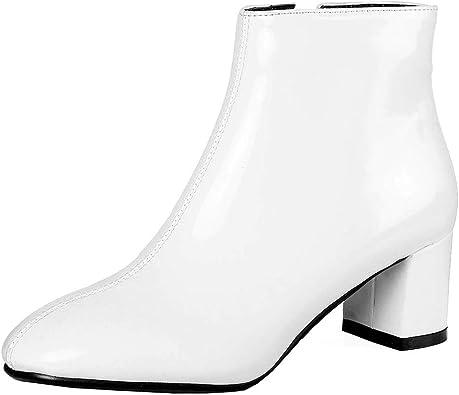 bottine blanc femme talon
