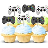 Video game controller cupcake topper picks 12 ct - Boy birthday party decorations and supplies - Handmade in the USA