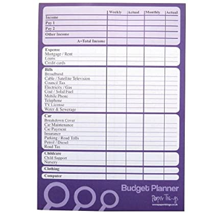 amazon com a5 budget finance money planner 50 sheets per pad