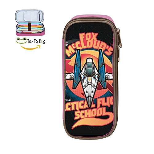 Flight Shool Pencil Case Pen Bag Makeup Pouch Durable Students Cool Boys Stationery With Double Zipper