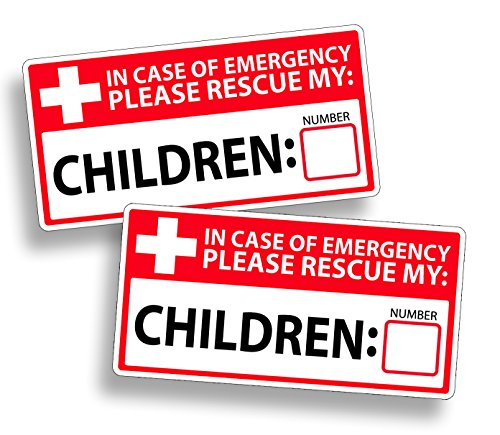 First 1st Responder Emergency Child Children Rescue Safety Window Safe Sticker