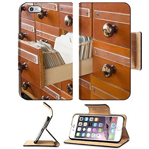 Annotated Cases (MSD Premium Apple iPhone 6 Plus iPhone 6S Plus Flip Pu Leather Wallet Case Old Vintage Library Card Catalog IMAGE 21923864)