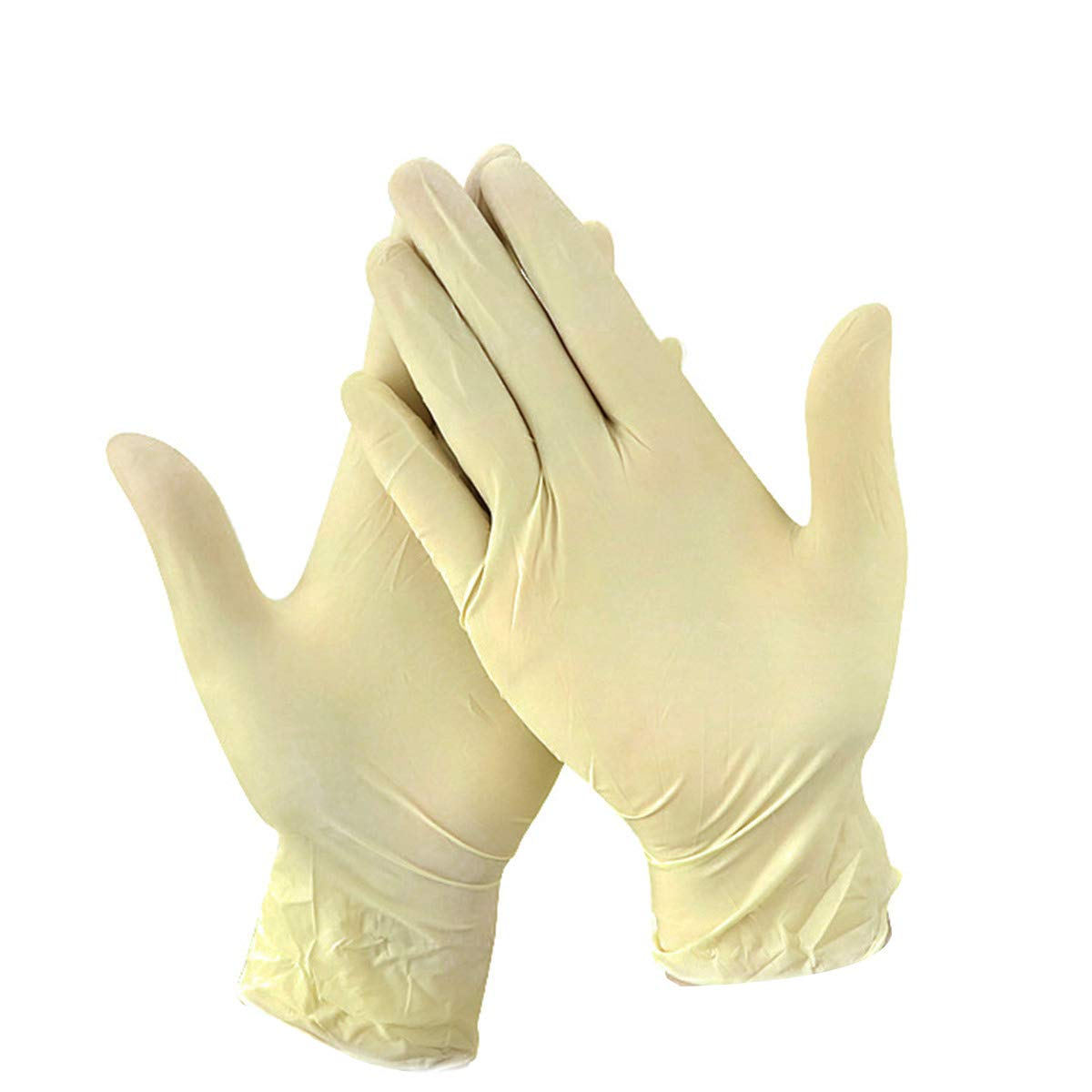 Queenbox 50 Pairs Large White Cotton Gloves for Cosmetic Moisturizing and Coin Inspection,S