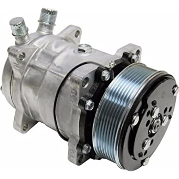 A/C Compressor and Clutch Replaces Sanden SD508 Model Brand New 8 Groove
