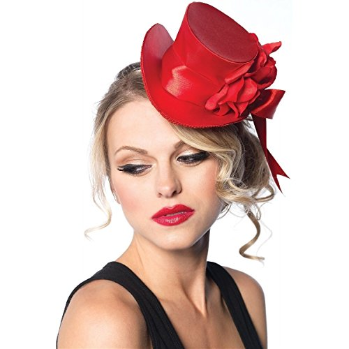 GSG Mini Top Hat Womens Costume Accessory Gothic Halloween Fancy Dress - Regan Exorcist Mask