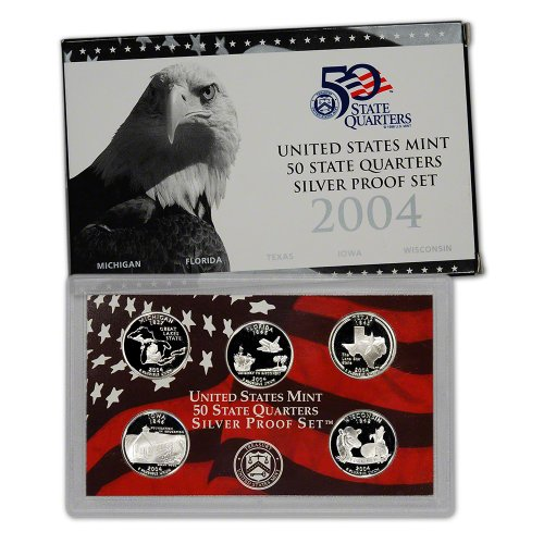 2004 S US Mint Quarters Silver Proof Set OGP (Silver Quarter Proof)