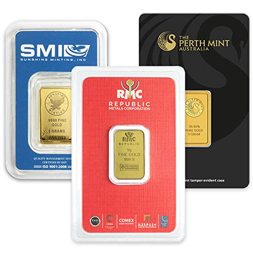 5 Gram Gold Bars.9999 Pure by Money Metals Exchange (Image #1)
