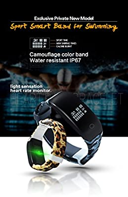 Mynike Fitness Tracker Heart Rate Monitor Smart Bracelet Waterproof Swimming Sport Wristband Smartband Pedometer Calorie Counter Smart Watch Fitness for Apple iOS Android Smartphone