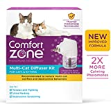 Comfort Zone New Formula Multicat Diffuser Kit for Cat Calming, 1 Diffuser, 1 Refill