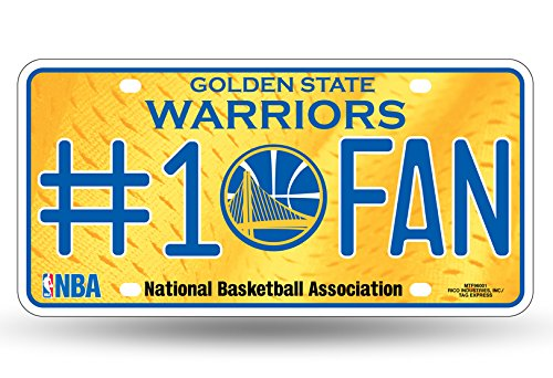 NBA Golden State Warriors #1 Fan Metal License Plate Tag ()