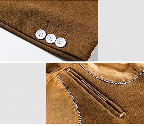 Da Armeegrün Button Fit Giacche Uomo Tuxedo Slim Targogo Leisure One Manica Vintage Moderna Blazer Lunga Modell Suit Giacca TwF7q5