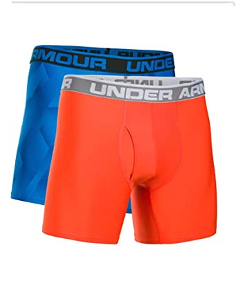 "Under Armour Mens UA Original 6/"" Boxerjock UA Boxers 2-Pack Small Red Black NEW"