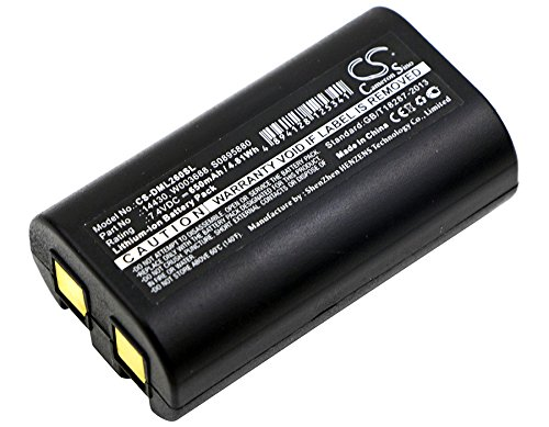 Cameron Sino 650mAh Li-ion High-Capacity Replacement Batteries for 3M PL200, DYMO LabelManager 260, fits 3M 14430, S0895880, W003688 by Cameron Sino (Image #1)