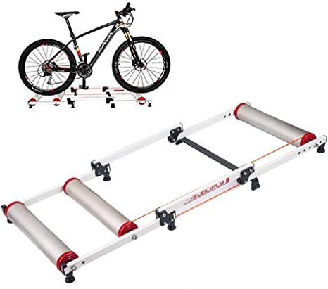 WAWZNN Entrenamiento Bicicleta Rodillo de Interior, Plegable de Rodillo de Bicicleta Soporte para 16-29in en Bicicleta de Montaña/Bicicleta de Carretera/Bicicleta Plegable: Amazon.es: Deportes y aire libre