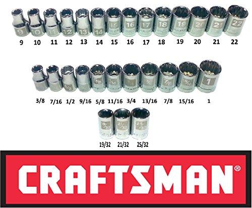 Craftsman Easy Read 28 Piece Sae & Metric 1/2
