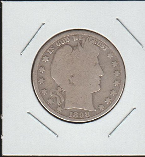 1898 Barber or Liberty Head (1892-1915) Half Dollar About Good