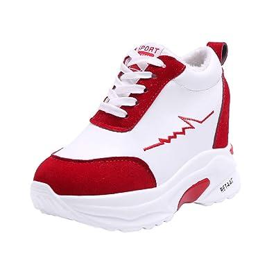 timeless design fbfa0 a8c01 Oliviavan Woman's Sport shoes Round-Toe Non-Slip Thick ...
