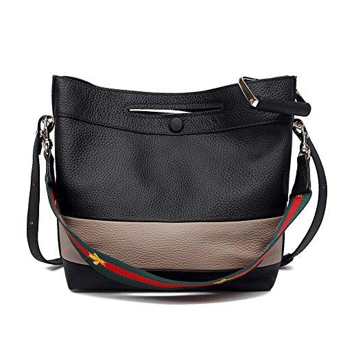 Hit JPFCAK Shoulder Bucket Bag Messenger Leather Color Bag Fashion Bag Leather Bag Handbag Casual Ladies C Bag Bag Handbags 8Onz18rx