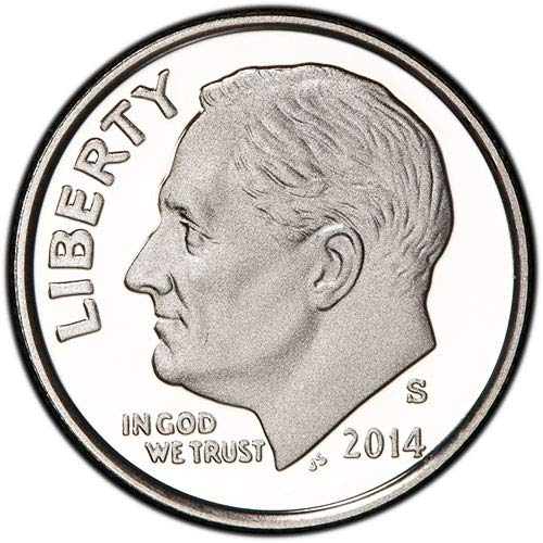 (2014 S Silver Proof Roosevelt Dime Choice Uncirculated US Mint)