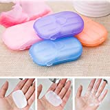 Muhan Random 1 Box Paper Soap Disposable Hand Washing Cleaning Paper Film Camping Soap Sheets