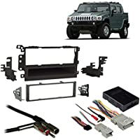 Fits Hummer H2 2003-2007 Single DIN Aftermarket Harness Radio Install Dash Kit