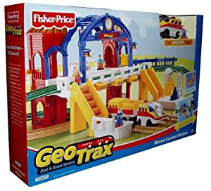 Amazon Com Fisher Price Geotrax Rail And Road System