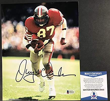 64dc53e8f THE CATCH!!! Dwight Clark Signed SAN FRANCISCO 49ERS 8x10 Photo  2 ...