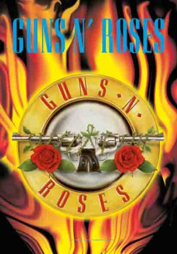 Guns N Roses Banner - LPG International Guns N Roses Circle Flames Fabric Poster Print, 30 by 40-Inch
