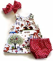 i-Auto Time Baby Girls Kids Toddler Zoo Dresses+Bottoms+Headband Outfit Clothes Set