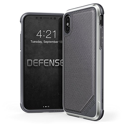 Price comparison product image iPhone X Case,  X-Doria Defense Lux Series - Military Grade Drop Tested,  Anodized Aluminum,  TPU,  and Polycarbonate Protective Case for Apple iPhone X,  iPhone 10,  [Ballistic Nylon]