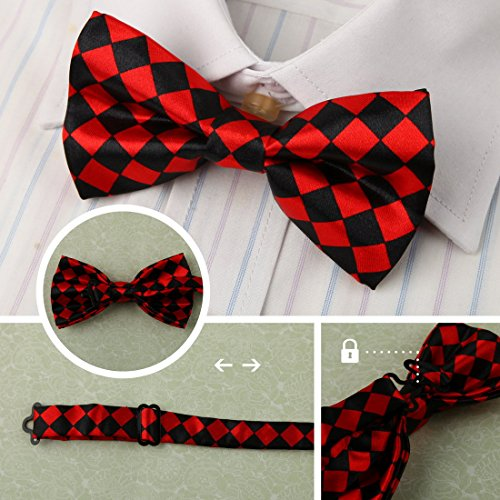 DBF0184 Excellent Bow Ties For Business Pre-tied Bow Ties - 5pc Luxury For Party By Dan Smith by Dan Smith (Image #7)