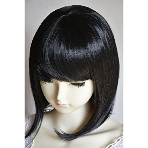 Liz Wig Medium Long Straight Flapper Bob Cosplay Wig 14