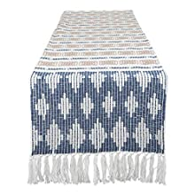 DII CAMZ11284 Braided Cotton Table Runner, Perfect for Spring, Fall Holidays, Parties and Everyday Use 15x72 French Blue