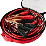Alloy Jumper Cables 6 Gauge 400 Amp Extra Long (20 feet) Jumpstart Battery Booster With Carry Bag