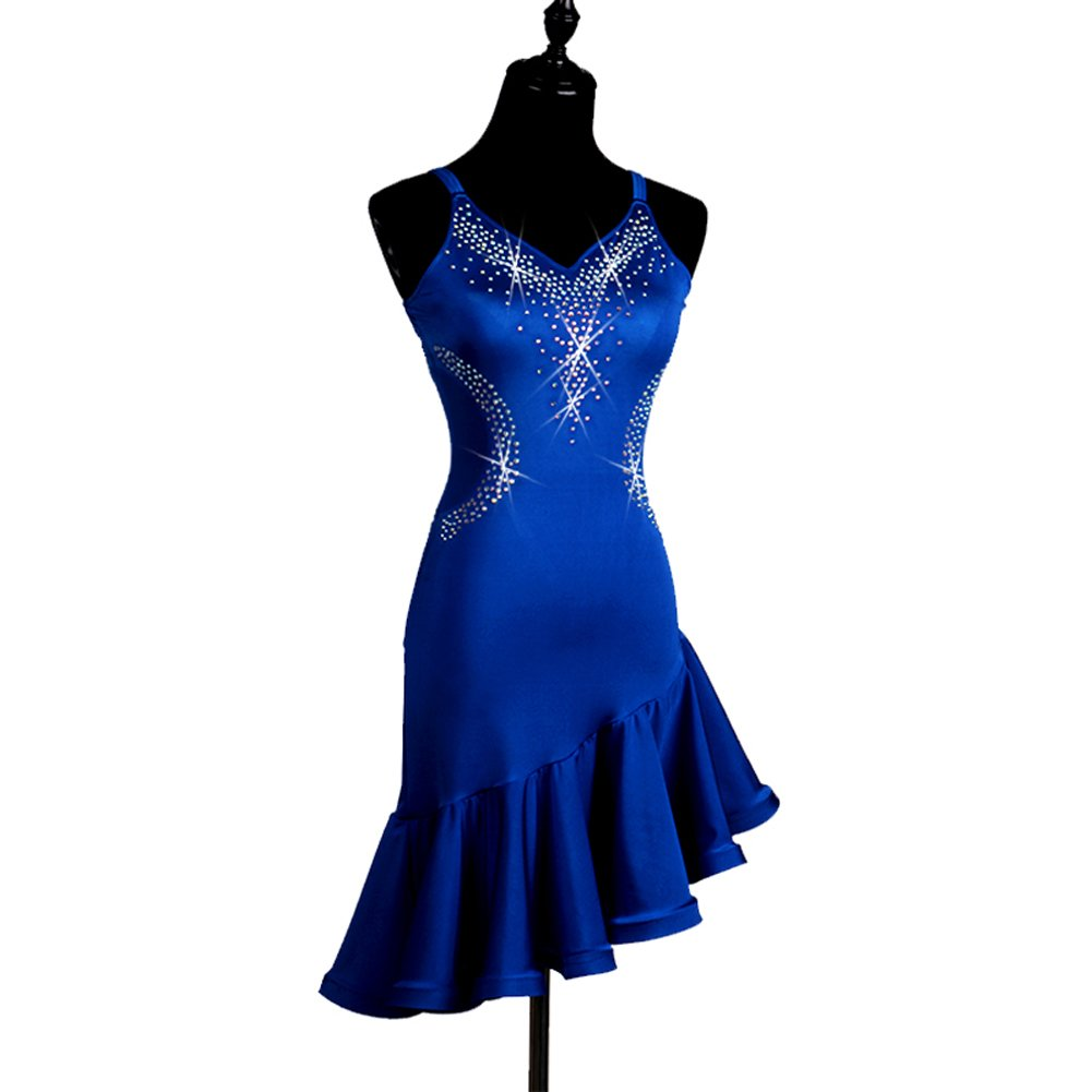 Amazon.com: NAKOKOU Latin Dance Dress Cha Cha Ballroom Waltz Rumba ...